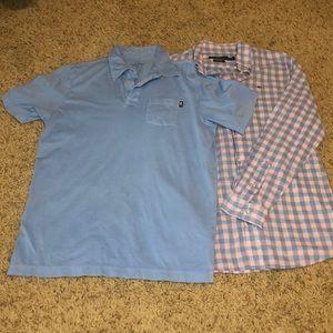 Vineyard Vines boys button down shirts